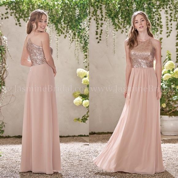 B2 Jasmine Dresses & Skirts - B2 Jasmine Rose Gold Dress